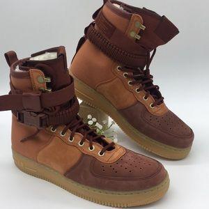 Nike SF AF1 PRM dark russet/pueblo brown